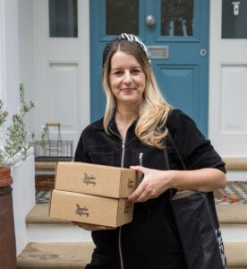 Lucy Heale, The London Distillery, with candle making kits