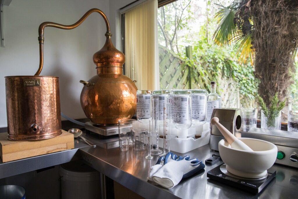 Equipment at Gaslight Distillery. Photo by Rupert Mason