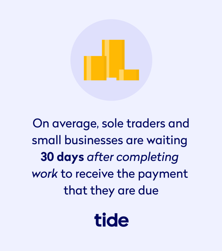 Tide study average wait time on late payments