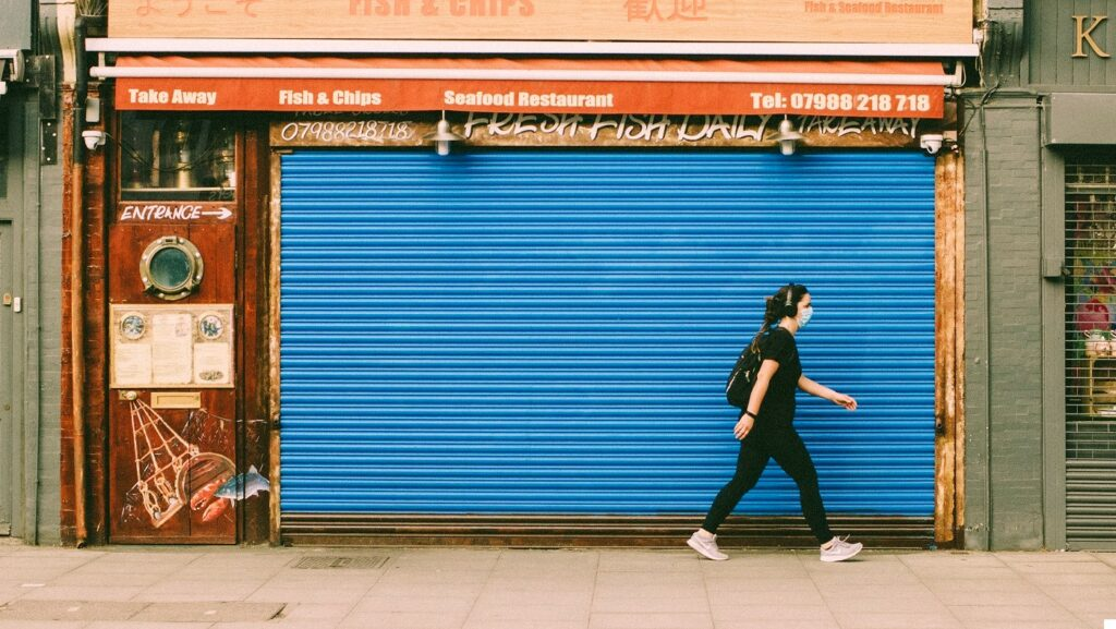 Closed fish and chip shop. Photo by Edward Howell at Unsplash.com