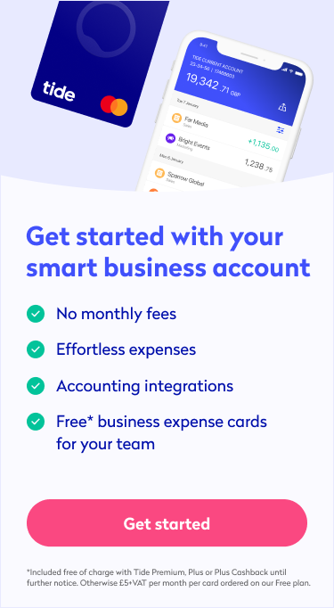 Mobile business current account banner