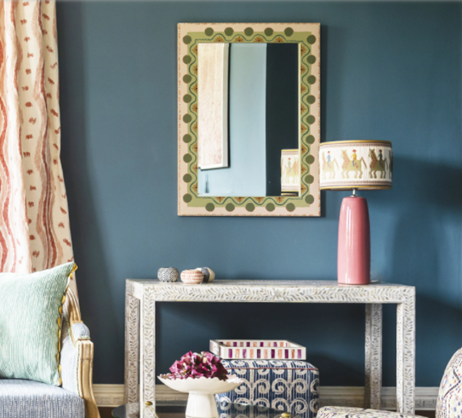 Amy Balfour hand-painted mirror by Wicklewood