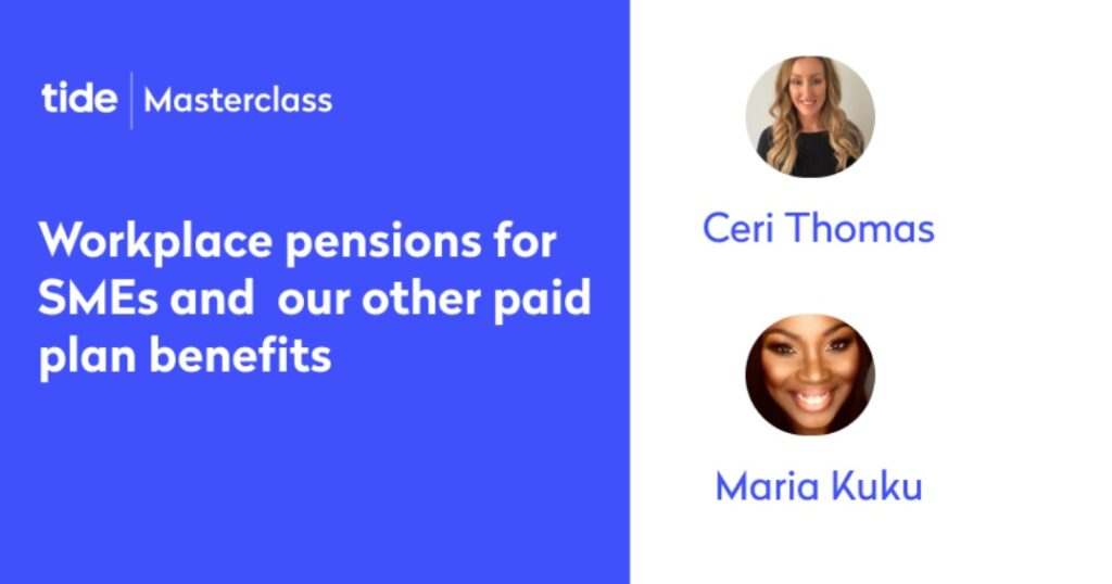 Masterclass: pensions and benefits of Tide paid membership plans
