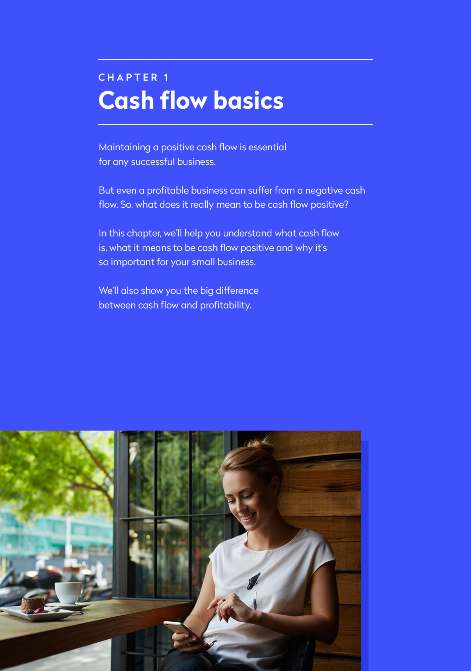 Screenshot of the cash flow basics page of the ebook