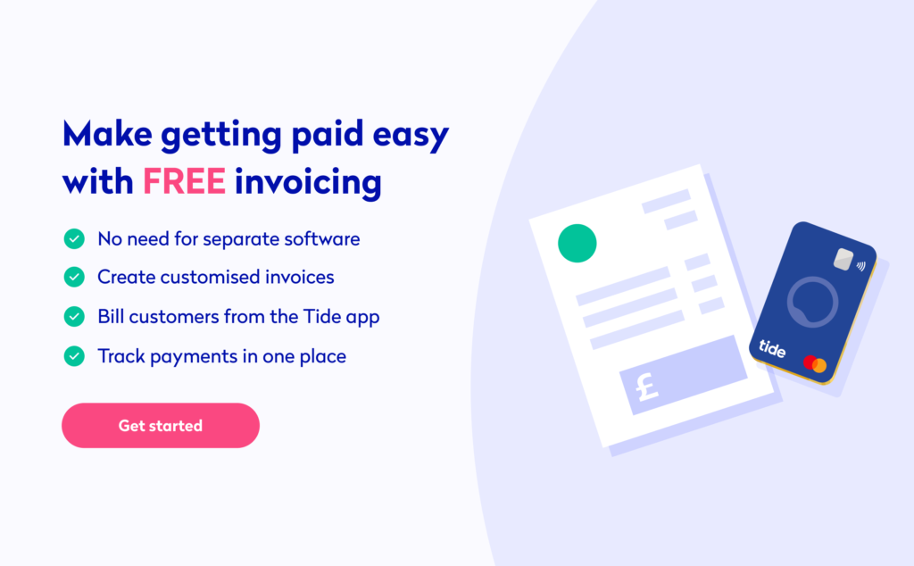 tide invoicing business banking app