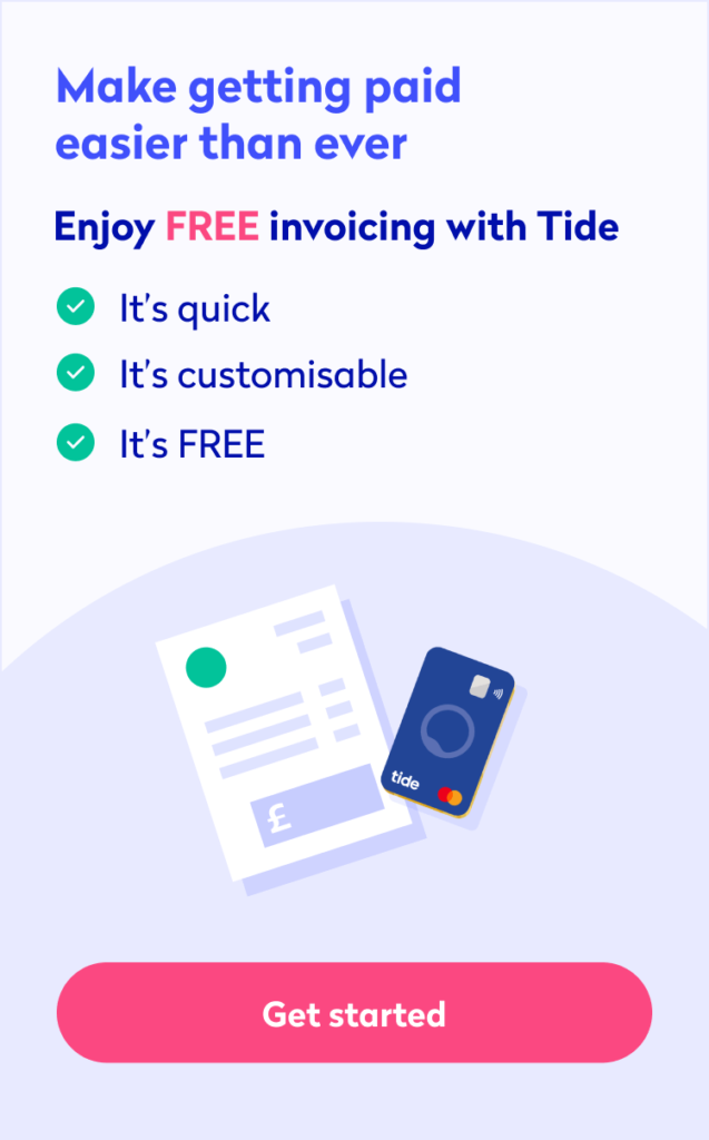 tide invoicing business banking app mobile